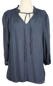 Odille Womens Solid Top Blue