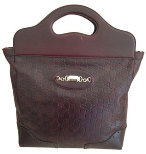 Gucci Leather Tote in Chocolate Brown