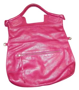 Foley + Corinna 3 Bright Pink Casual Leather Tote in Hot Pink