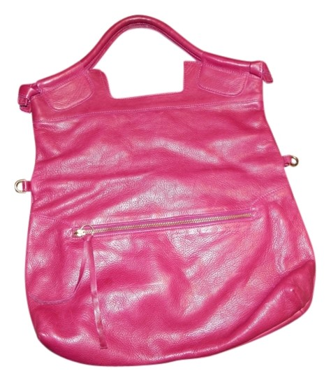 Preload https://item4.tradesy.com/images/foley-corinna-3-styles-bright-casual-hot-pink-leather-tote-1817238-0-0.jpg?width=440&height=440