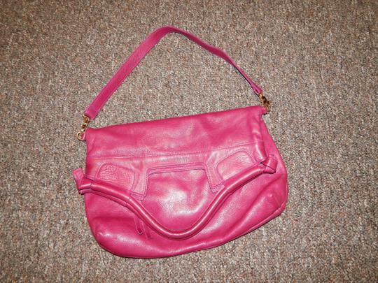 Foley + Corinna 3 Styles Bright Casual Leather Tote in Hot Pink