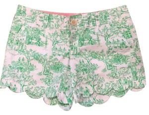 Lilly Pulitzer Dress Shorts Spring Fever Toile