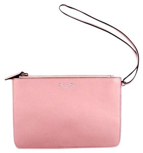 Dior Wristlet Pouch Leather Pink Clutch