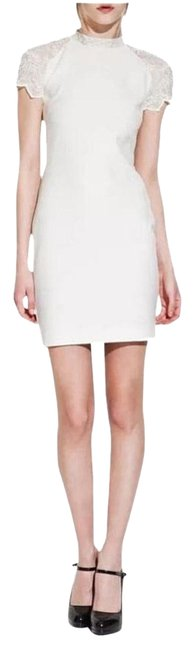 Item - Cream/White Lace Mini Short Cocktail Dress Size 4 (S)