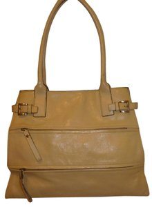 Day Timer Refurbished Leather Tote in Cream