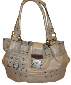 Juicy Couture Refurbished White Leather Hobo Bag