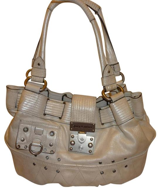 Item - Pearl White Leather Hobo Bag
