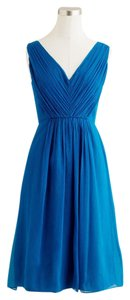 J.Crew Silk Chiffon Bridesmaid Blue Dress
