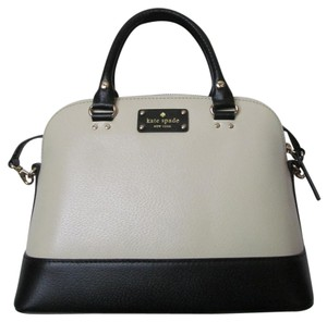 Kate Spade New With Tag Satchel in Porcelain/black