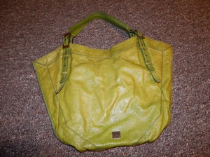 Kooba Unique Buckles Grommets Tote in Green