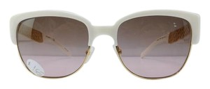2952ac6e910 Tory Burch New TY 6032 3015 14 White Gold Acetate Frame Gradient Lens 56mm -