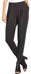 Eileen Fisher Cozy Viscose Relaxed Pants CHARCOAL
