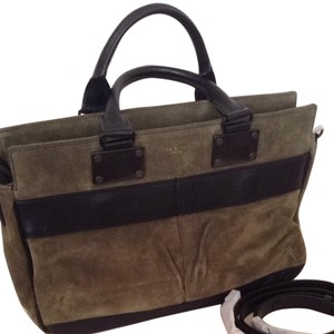 Rag & Bone Satchel in Olive Green Suede