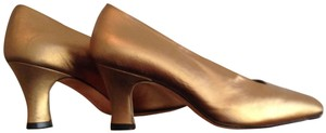 Joan & David Formal Evening Gold Pumps