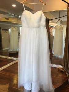 Plus Size Simple Sweetheart With Spaghetti Straps Low V Back Tulle Dress Wedding Dress