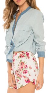 Flynn Skye Mini/Short Shorts White, pink