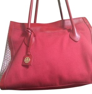 Tory Burch Tote in Red and white