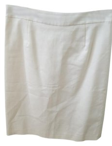 Boden Pencil Cotton Skirt White/ivory