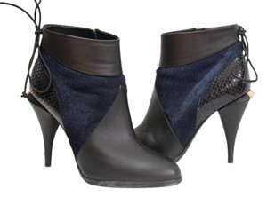 Fendi Fall Snakeskin Calf Hair Black navy Boots