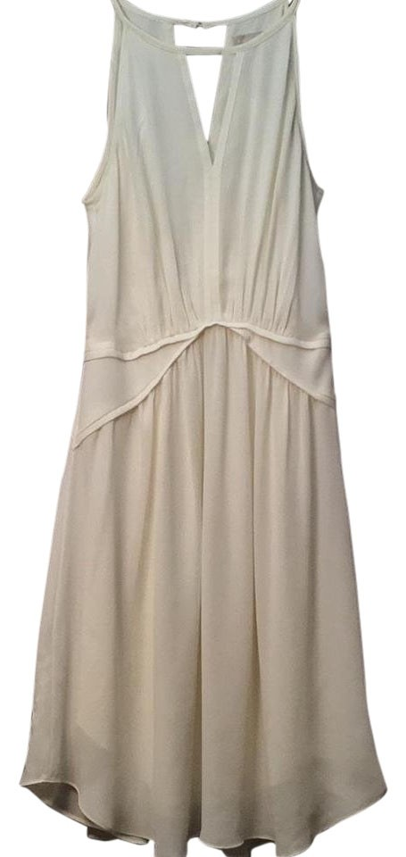 51d952d848e Banana Republic Ivory Chiffon Halter Above Knee Cocktail Dress Size ...