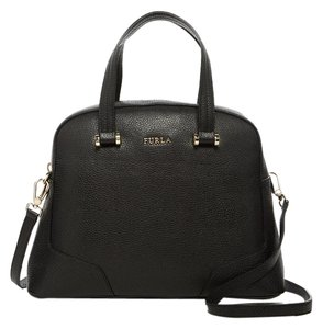 Furla Crossbody Spring Trend Pale Denim Color Serenity Satchel in black