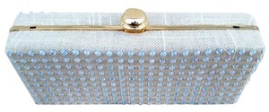 deux lux Linen Sparkles Dress Natural Clutch