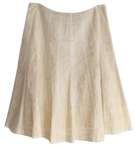 Tahari Skirt Yellow/White