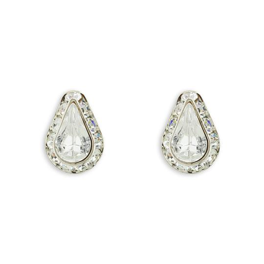 Giavan Clear Teardrop Crystal Stud L575e (E-43) Earrings Image 1