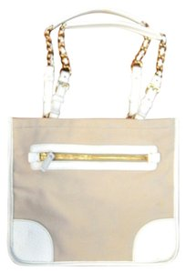 Prada Tote in Beige/White