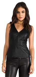 Bailey 44 Perforated Leather Tank Top Black