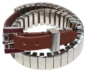Michael Kors Michael Kors Leather Double-Wrap Bracelet
