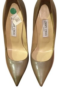 Jimmy Choo Taupe metallic Pumps