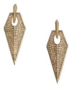 Rebecca Minkoff Rebecca Minkoff Gold Encrusted Blade Earrings