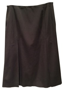 Prada Work Office Slits Pleated Skirt Black