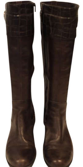 Naturalizer Riding Extended Calf Leather Brown Boots
