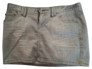 A/X Armani Exchange Denim Mini Skirt Gray
