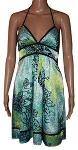 IZ Byer California short dress Blue Halter on Tradesy