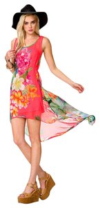 pink Maxi Dress by Forever 21 Beach Neon Flowy Flower Tropical