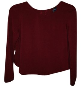 Blue Rain Open Back Top Oxblood