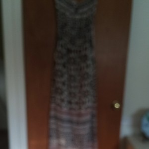 Black, Orange, Tan Maxi Dress by Angie