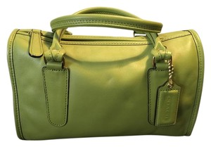 Coach Leather Vintage Satchel in Green