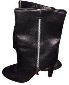 Franco Sarto Leather Bootie Black Boots
