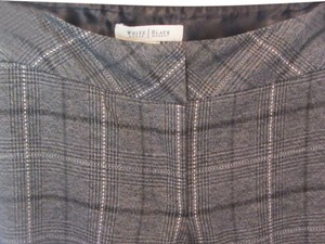 White House | Black Market Trouser Pants grey plaid