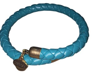 Alex and Ani Braided Leather Wrap, Carribean, RG