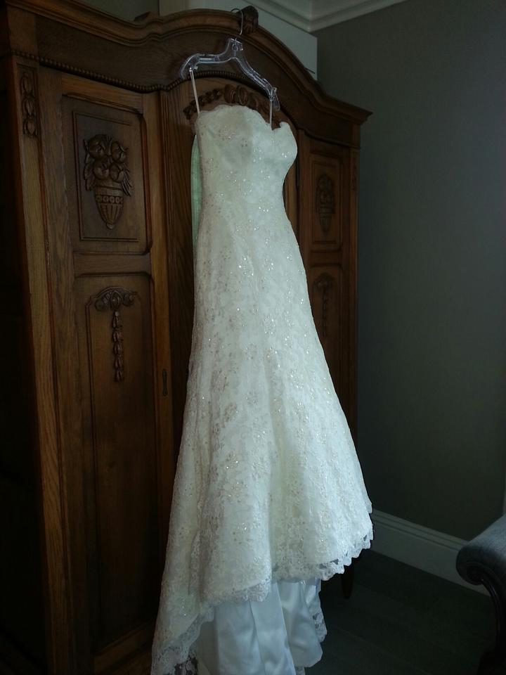 Augusta Jones Ivory Lace with Applique Overlay Jessie Traditional ...