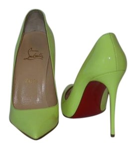 Christian Louboutin Brand New In Box LIME YELLOW Pumps
