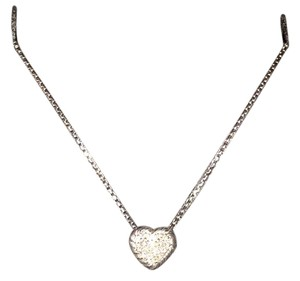 David Yurman N12533DSSADI17 Petite Pave Heart Pendant Necklace with Diamonds
