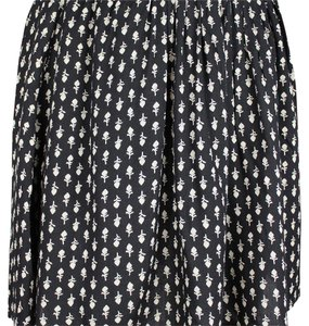Lucky Brand Flowers Boho Mini Skirt Black and beige