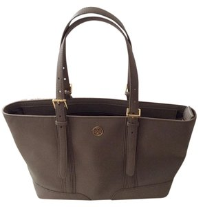 Tory Burch Leather Tote in Gray
