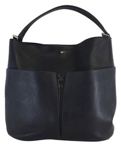 Anya Hindmarch Black Leather Front Pocket Tote